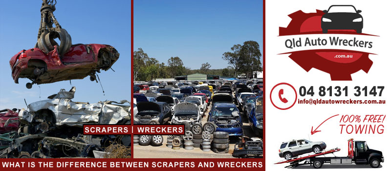 What is the difference between scrapers and wreckers?
